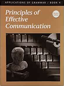 Applications Of Grammar Principles Of Effective Communication Book 4