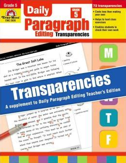 Daily Paragraph Editing Transparencies Grade 3