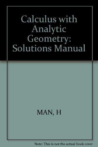 Solution Manual For Calculus With Analytic Geometry