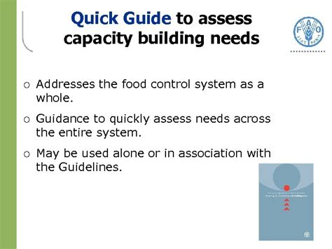 Strengthening National Food Control Systems A Quick Guide To Assess Capacity Building Needs