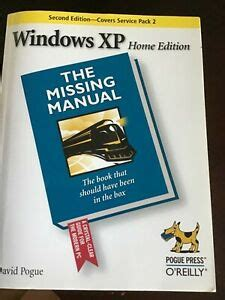 Windows Xp Home Edition The Missing Manual 2e